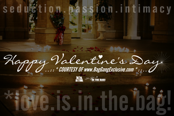 HAPPY VALENTINE'S DAY COURTESY OF BagGangExclusive.com *love.is.in.the.bag!